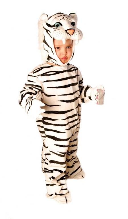 Plush White Tiger Infant Toddler Costume
