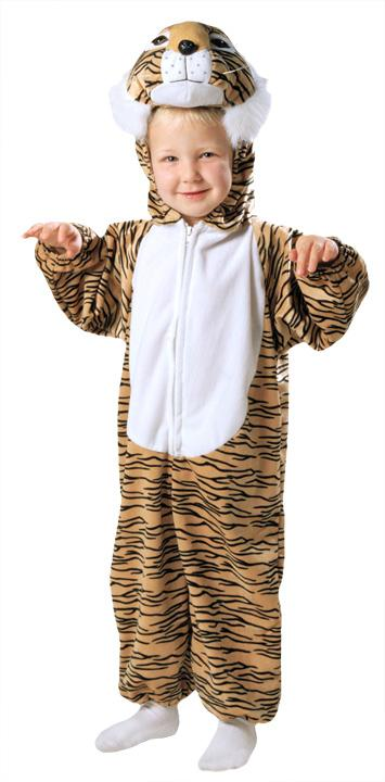 Tiger Striped Plush Toddler Costume