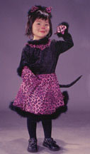 Cat Girl Velvet Toddler Costume