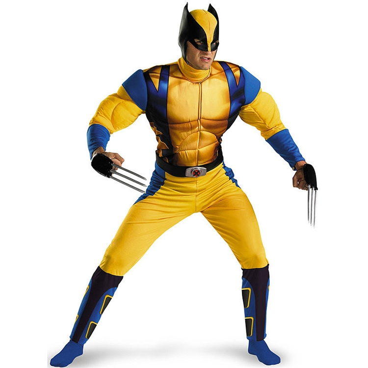 X-Men Wolverine Muscle Adult Costume
