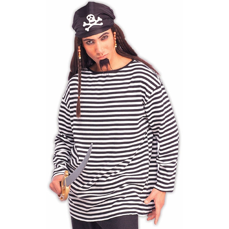 Pirate Striped Costume Shirt