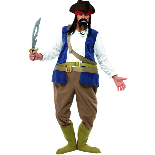 Caribbean Pirate Funny Adult Costume