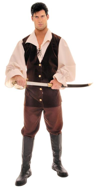 Buccaneer Tan Brown Adult Costume