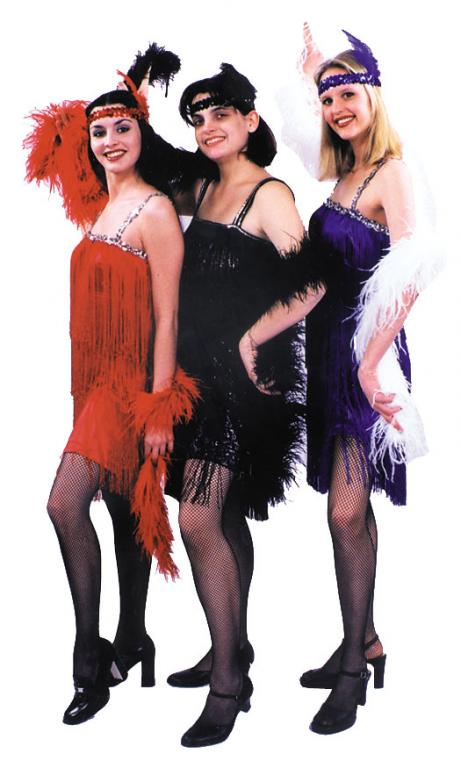 Flapper: Hussy Dress (Royal Blue) Adult Costume