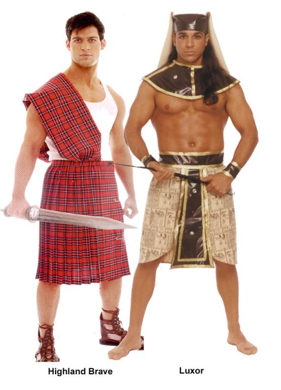 Luxor and Highland Brave Adult Costume