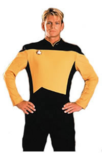Next Generation Shirt Gold Adult Costume