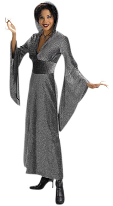 Black Glitter Robe Adult Costume