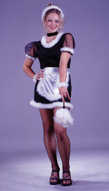 French Maid Feather Adult Costume