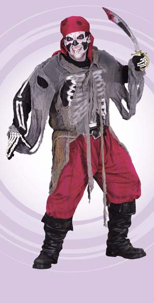 Pirate Gauze Adult Costume - Click Image to Close