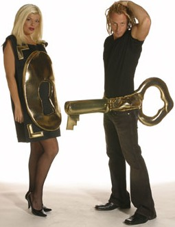 Lock and Key Set Couples Adult Costume