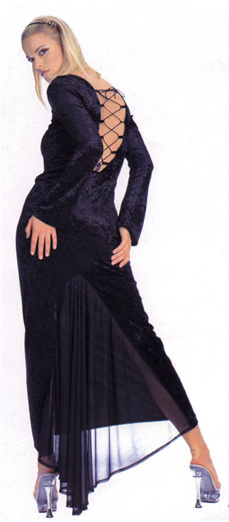 Dress Gothic Velvet Adult Costume
