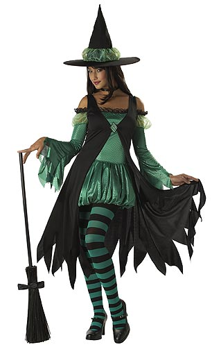 Adult Emerald Witch Costume