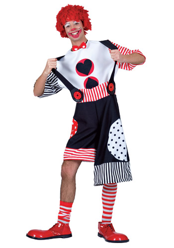 Adult Big Heart Clown Costume
