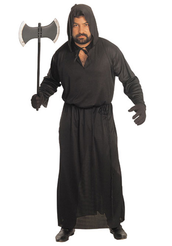 Adult Hooded Black Robe