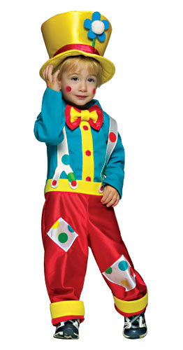 Toddler Boys Clown Costume