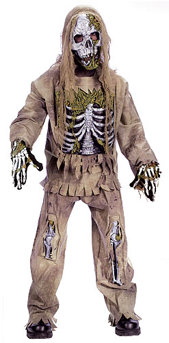 Kids Skeleton Zombie Costume