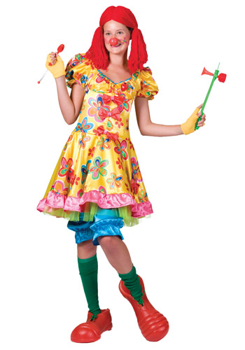 Womens Daisy Clown Costume
