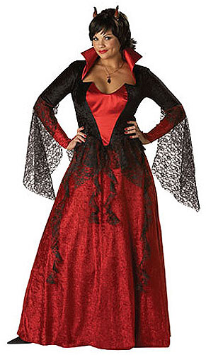 Womens Plus Size Devil Costume