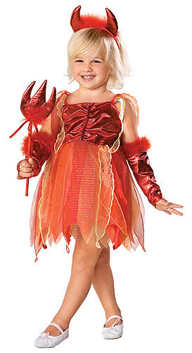 Girls Devil Toddler Costume