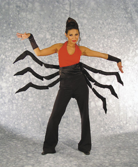 Adult Black Widow-Man Eater Adult Costume