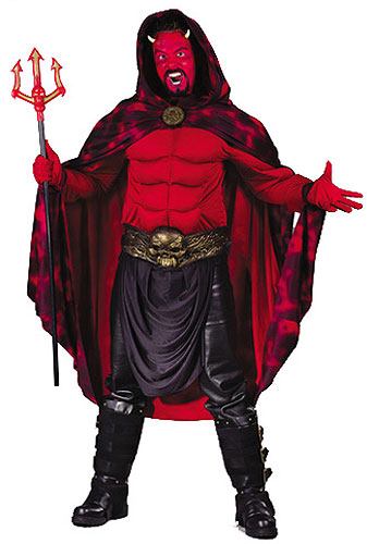 Men's Muscle Chest Devil Costume