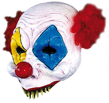 Scary Clown Half Mask