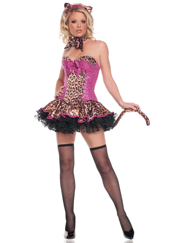 Sexy Sequins Leopard Costume - Click Image to Close