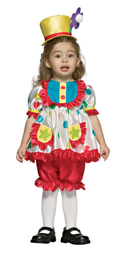 Toddler Girls Clown Costume