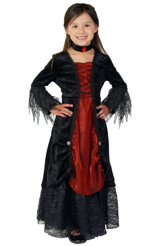 Toddler Girls Gothic Vampire Costume