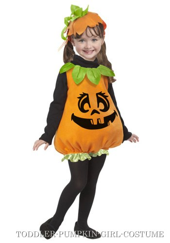 Toddler Pumpkin Girl Costume