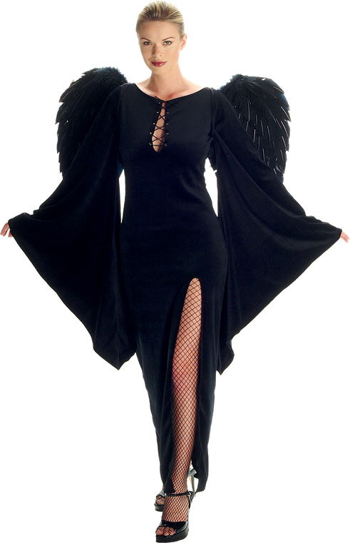 Gothic Velvet Dress with Bell Sleeves Adult Costume