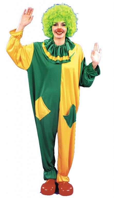 Clown Green and Yellow Adult Circus Costume