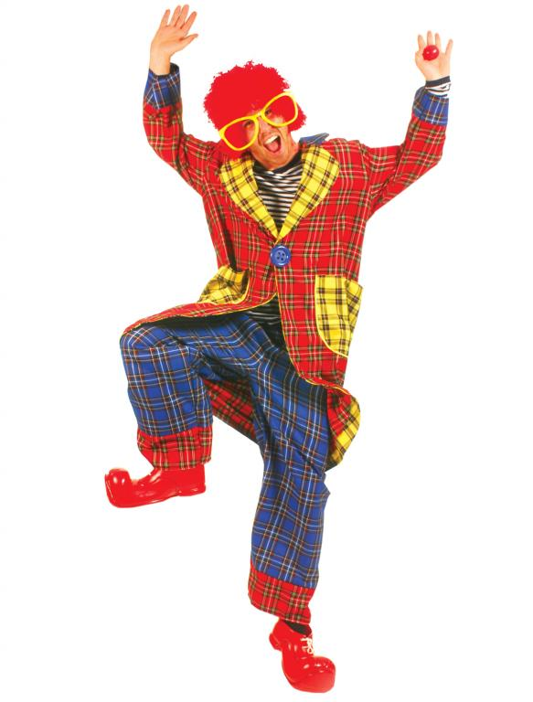 Plaid Pickles Clown Adult Costume