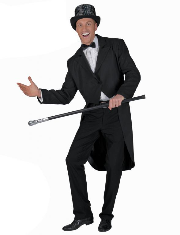 Adult Black Tailcoat Circus Costume