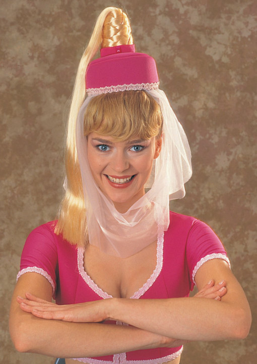 I Dream Of Jeannie Hat w/Hair