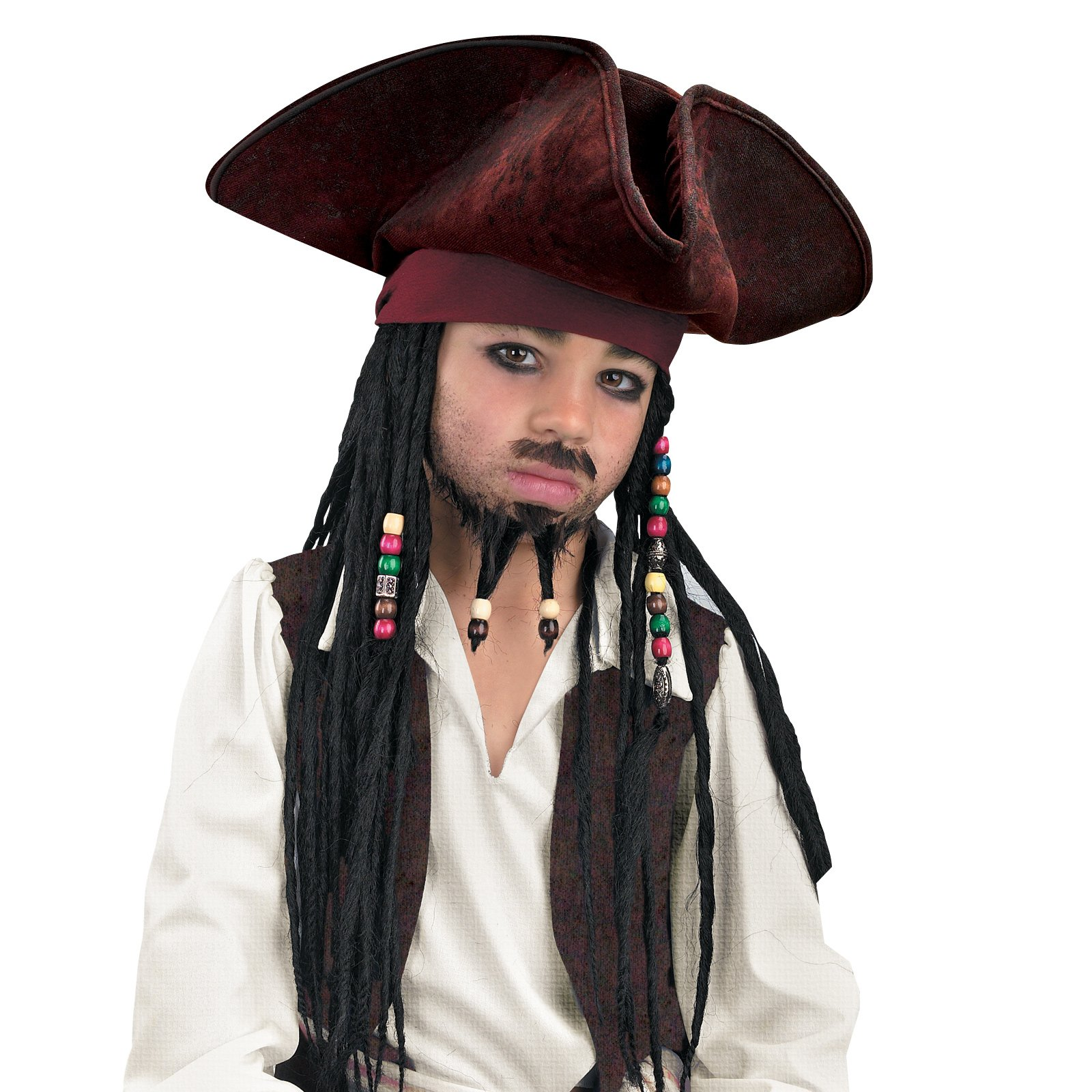 Pirates of the Caribbean - Jack Sparrow Pirate Hat With Beaded B