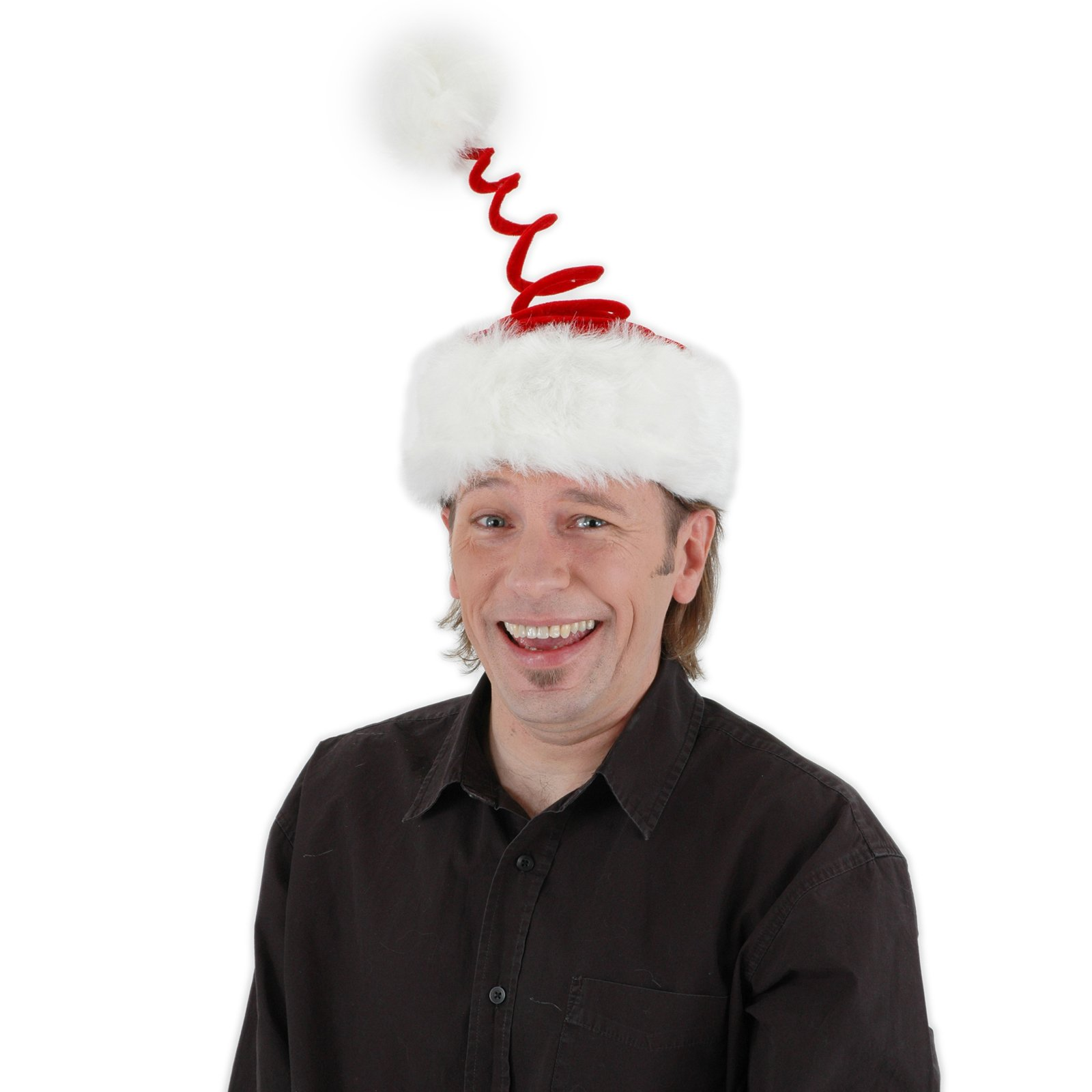17f040edaec02 Deluxe Springy Santa Hat  Costume Hats
