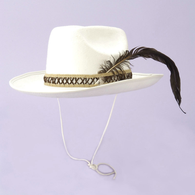 White Flocked Cowboy Hat