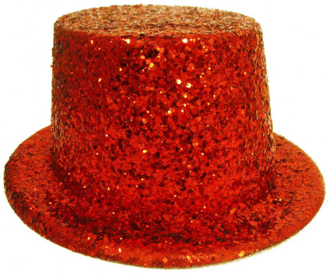 Stardust Red Top Hat