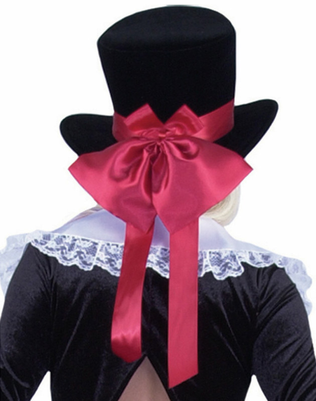 Velvet Hat w/ Satin Bow