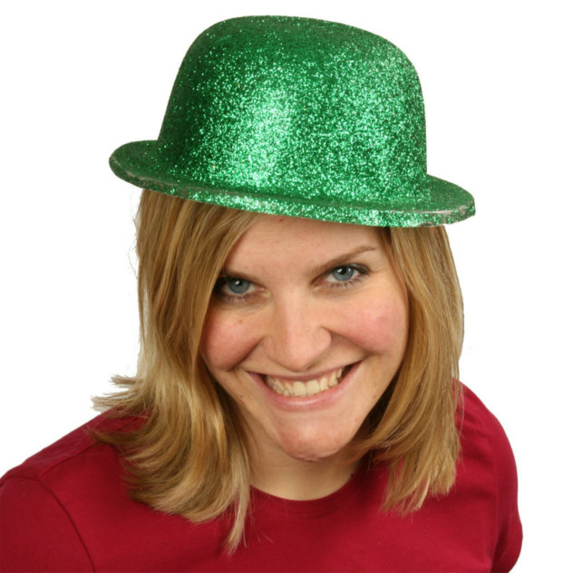Green Glitter Derby Hat