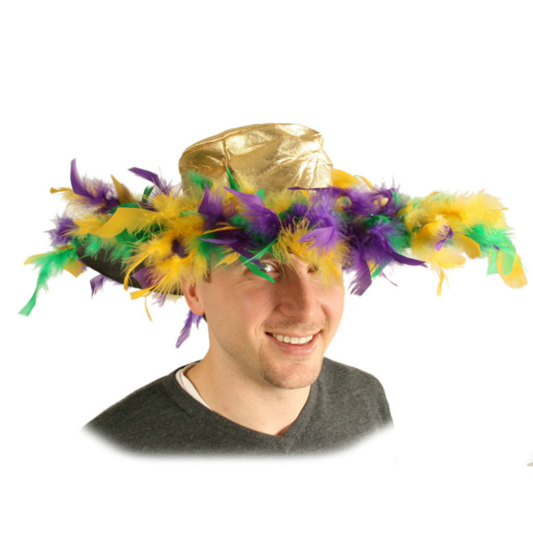 Mardi Gras Feather Hat