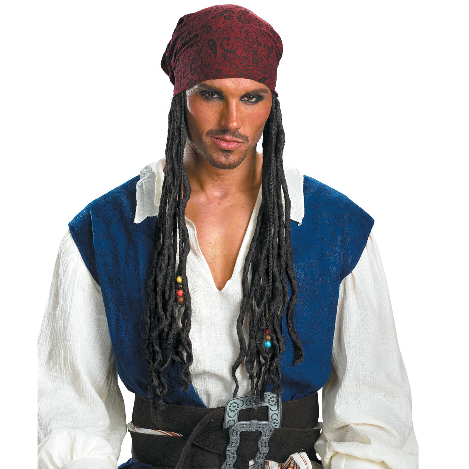 Pirates of the Caribbean 3 Captain Jack Sparrow Headband With Ha