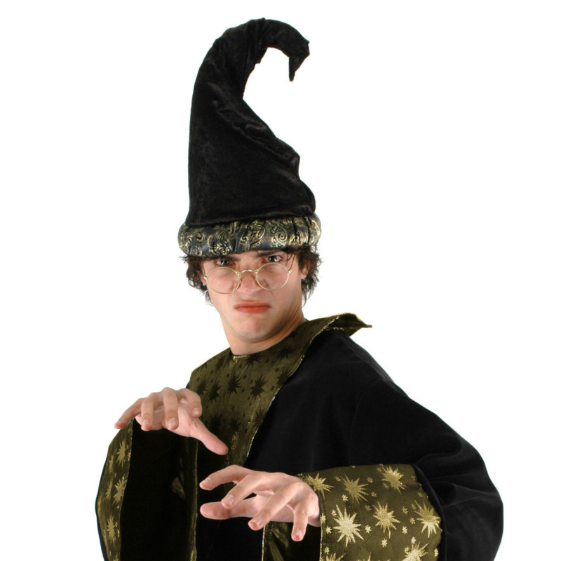 Fancy Wizard Hat - Black
