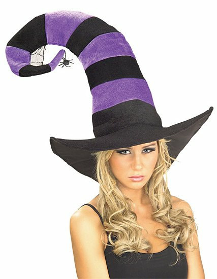 Funky Striped Witch Hat Adult