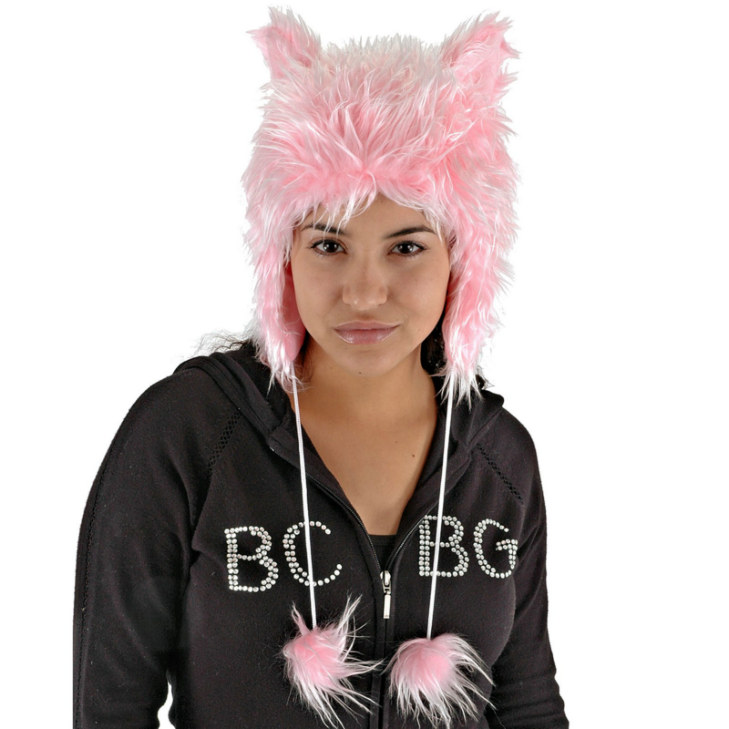 Pink Cat Hat - Click Image to Close