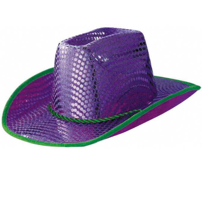 Purple Disco Dots Cowboy Hat