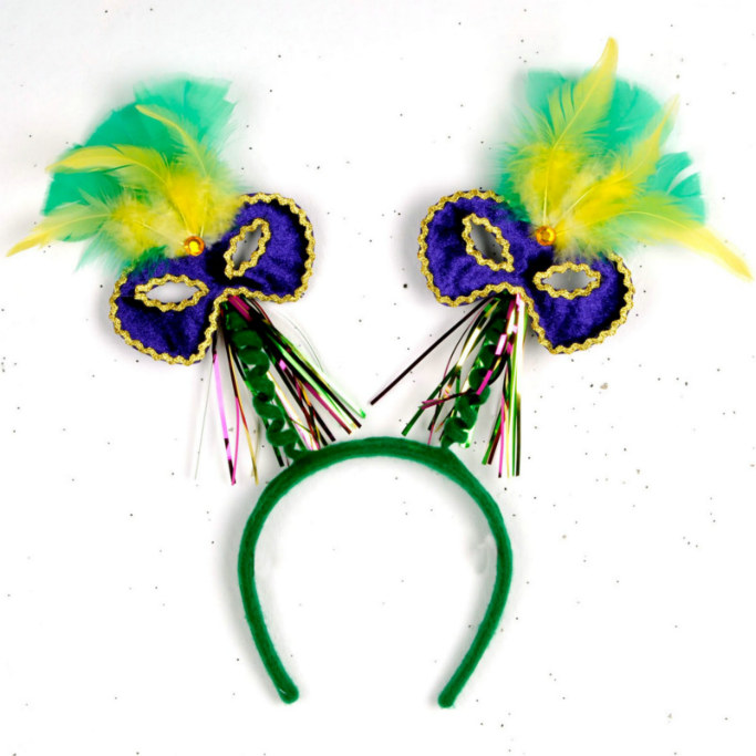 Feathered Mardi Gras Bopper