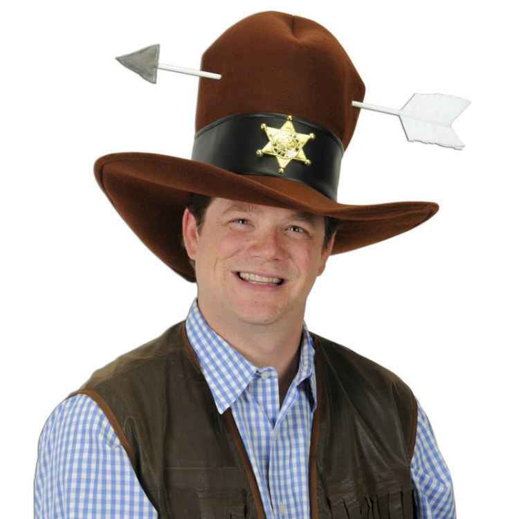 Western Plush Hat with Arrow
