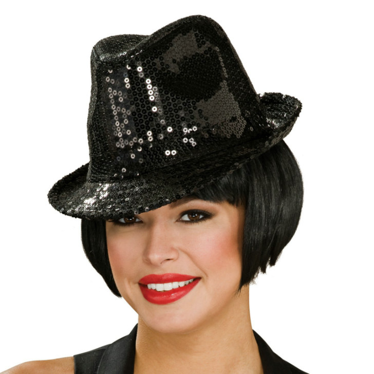 Sequin Fedora Hat Adult